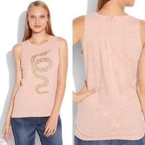 LUCKY BRAND Studded Snake Muscle Tank Medium
